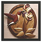 #5: Printelligent Framed Floral Paintings for Living room and Bedroom. 12 in x 12 in Wooden