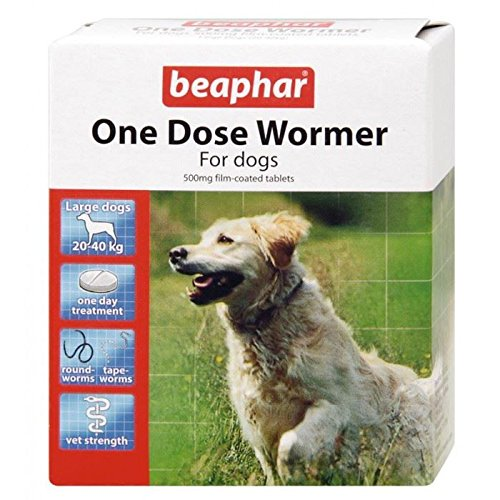 Beaphar One Dose Wormer Large Dog Worming Tablets 4 Tablets