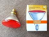 Osram Reflektorglühlampe Concentra PAR-EC, Belcolor rot, E27, 80W