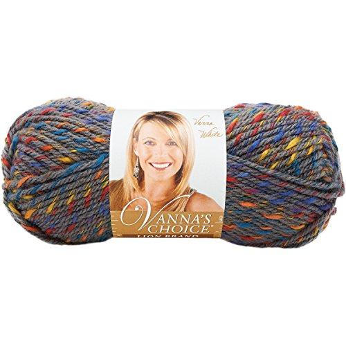 Lion Brand Yarn Company 1 pezzo Vanna's Choice Yarn, Grigio patchwork