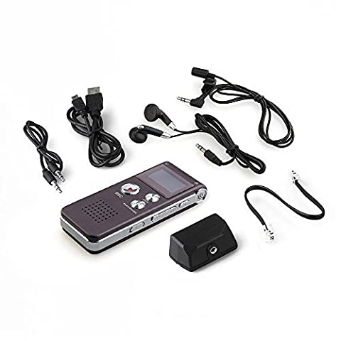 SODIAL (R) Digital Voice Recorder Diktaphon MP3 Musikwiedergabe 8G - Violett