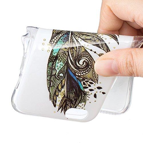 iPhone 6 6S (4,7 Zoll) Hülle,iPhone 6 6S (4,7 Zoll) Case,Cozy Hut ®TPU Leuchtende Nacht Silikon Schutzhülle Handyhülle Painted pc case cover hülle Handy-Fall-Haut Shell Abdeckungen für iPhone 6 6S (4, Grüne Federn