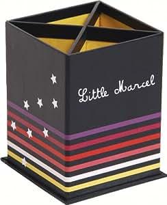 Clairefontaine Little Marcel Pot à crayons Motif Ligné/Etoiles
