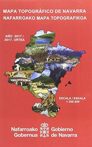Mapa topográfico de Navarra, E 1:200.000/Nafarroako mapa topografikoa, E 1:200.000 por Departamento de Desarrollo Económico. Dirección General de Obras Públicas