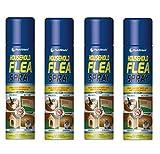 Espray para pulgas y garrapatas, 4 unidades de 200 ml para protección del hogar de las mascotas