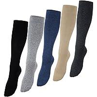 Vitasox Medias de apoyo hasta la rodilla, medias de viaje hasta la rodilla de algodón, de señora y caballero, de compresión, lote ahorro de 2, 4 y 6 unidades