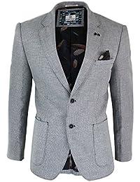 Gilet o Giacca Blazer da Uomo in Misto Cotone Stile Elegante Slim Fit 8f2d33af9ff