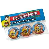 La toalla multifunction compacta reusable, biodegradable, pesa solo 16 gramos, secado rápido, superabsorbente, antibacteriana, suave,-3 paquetes 30x60cm Toallas Lightload.