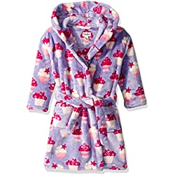 Hatley Girl's Fuzzy Fleece Robes Dressing Gown, Yummy Cupcakes, Small (2-3 Years)