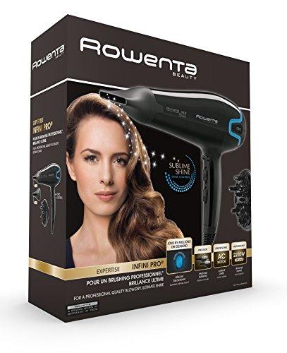 Rowenta Infinity Pro Beauty CV8730E0 - Secador profesional motor AC 2200W, Iónico , 2 boquillas concentradoras 6 y 8 mm, difusor, 2 velocidades y 3 temperaturas, botón aire frío