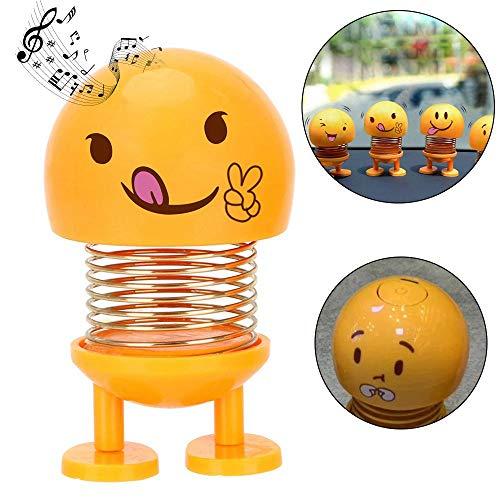 fschütteln Puppen Lautsprecher, tragbare BT Lautsprecher Mini Smiley Tanzen lächelnd Puppe Wireless Mini Sound - Bounce Spielzeug Thema für Auto Armaturenbrett/Tischdekoration ()