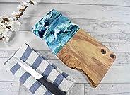 Tabla de cortar de madera de olivo rústica 30cm