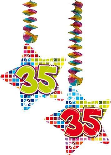 2x Decken Dekoration * 35. Geburtstag * für Kindergeburtstag // 60835 // Birthday Kinder Party Hängende Deko Hanging Deco Zahlendeko Zahl Zahlen (Decke Geburtstag Dekorationen)