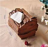 Support de papier toilette–Wood-multi-purpose Paper Box Tea Table pour salon de cuisine