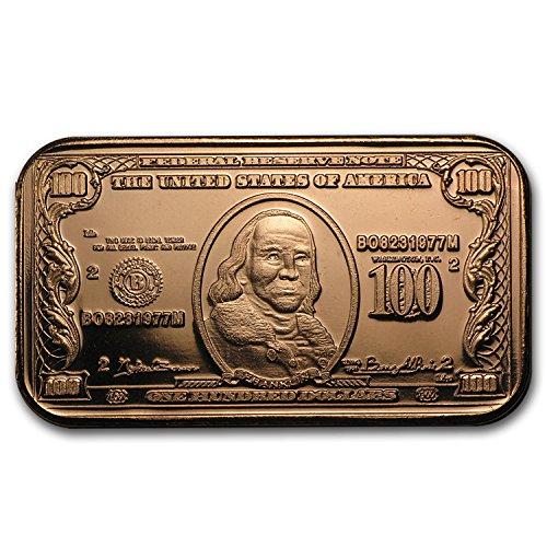 1-oz-mint-fresh-rare-100-benjamin-franklin-fine-999-copper-ingot