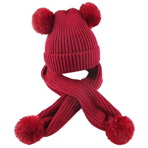Descripción del producto: Gorro de punto de bolas de pelo para niños de dos piezas. Características: 100% lana de punto, de alta calidad. Tejido de punto, cálido y cómodo. Especificaciones del sombrero: circunferencia del sombrero 44 - 50 cm. Bufanda...