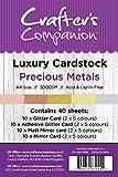 Crafter 's Companion A4Luxus Karton Pack, Karte, Edelmetalle, 29,6x 21x 10,5cm