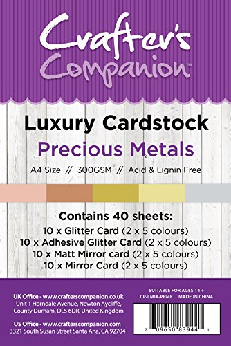Unbekannt Crafter 's Companion A4 Karton Pack, Karte, Edelmetalle, 29,6x 21x 10,5cm