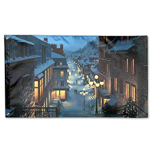 Garden Flag Winter Snowflakes Street Outdoor Yard Home Flag Wall Lawn Banner Polyester Flag Decoration 30x45CM -