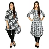 Bouttique Ever Exclusive Kurti Combo To Mesmerize Your Outfits-Updown Black Kurti And Black Flair Kurti
