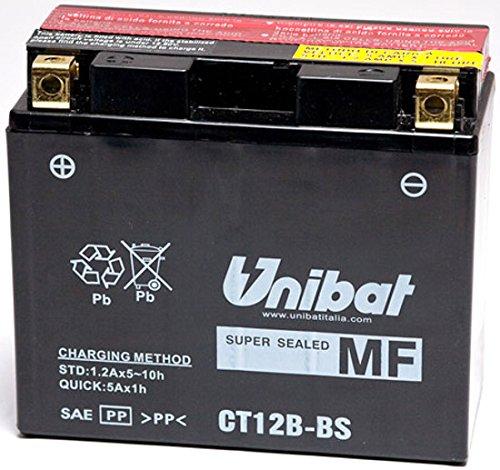 Unibat BATTERIA UNIBAT YT12B-BS 12 V 10 AH YAMAHA YZF-R1 1998-2003 per Yamaha-YZF-R1 dal 1998 fino al 2003