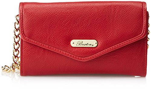 Buxton Chained Crossbody Wallet, Red, One Size