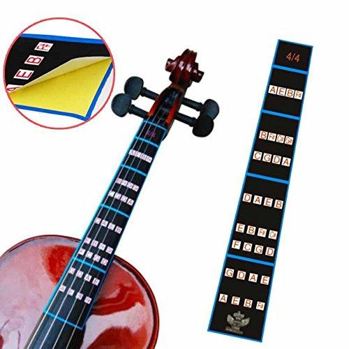 4 Finger (Forfar 1 Stück 4/4 Violin Griffbrett Aufkleber Violine Geige Finger Position Marker Tape Violin Sticker Griffbrett Bande Geige Griffbrett Finger Marker)