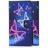 tinxi® Kunstleder Tasche für LG G4 Stylus Tasche Schutz Hülle Schale Etui Case Cover Standfunktion mit Karten Slot bunte Schmetterling