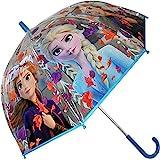 Disney Frozen Transparente Campana 19' 2 Paraguas Acampada y Senderismo Infantil, Juventud Unisex, Multicolor (Multicolor), T
