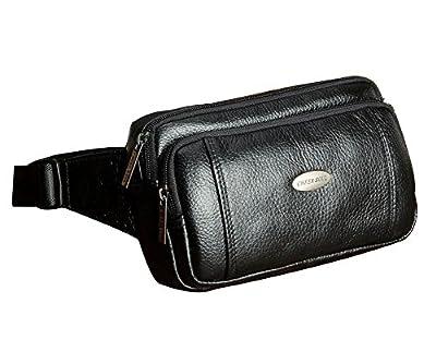 Genda 2Archer Sac de taille en cuir petit sac banane pour hommes et femmes