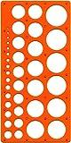 Maped M277620 - Kreisschablone Technic für Kreise Durchmesser 1-35 mm, orange