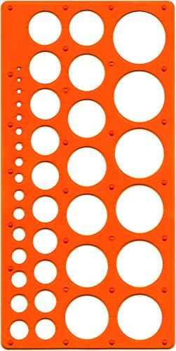 Maped M277620 - Kreisschablone Technic für Kreise Durchmesser 1 - 35 mm, orange