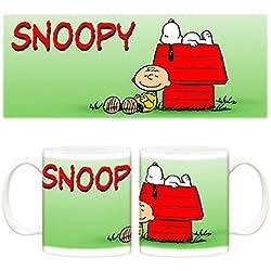 Taza Snoopy y Charlie en la casita de perro