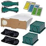 Staubsauger Sparset - 66 teiliges Set inkl. 30 Staubsaugerbeuteln - Optimal passend für Vorwerk Kobold VK 130 und 131 - Garantierte Bestleistung beim Saugen - Premium Qualität