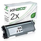 Kineco 2 Toner kompatibel für Brother TN-2320 TN2320 TN-2310 für Brother MFC-L2700DW, DCP-L2520DW, HL-L2340DW, HL-L2300D, DCP-L2500D, HL-L2360DN - Schwarz je 2.600 Seiten