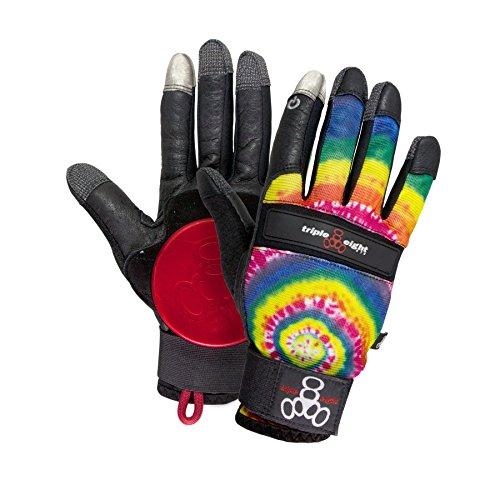 Triple 8 Longboard Slidehandschuhe Downhill Longboard Gloves mehrfarbig (tie dye) Groesse XS