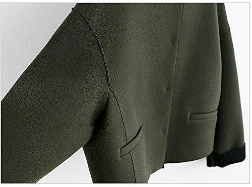 Jollychic - Blouson - Femme marron camel taille unique vert militaire