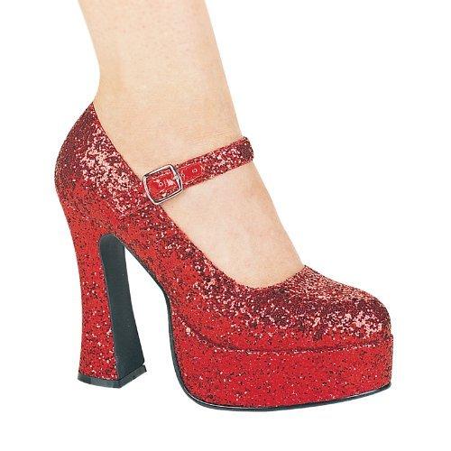 ary Jane Schuhe, Rot - rot - Größe: 41 EU (Weiße Mary Jane Schuhe Halloween)
