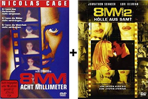 8mm 1+2 DVD Set I & I, Nicolas Cage uncut Acht Millimeter Hölle aus Samt - Walking Dead Dvds Box-sets