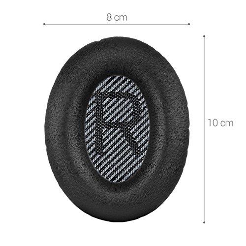 kwmobile 2X Ohrpolster für Bose Quietcomfort Kopfhörer - Kunstleder Ersatz Ohr Polster für Bose Overear Headphones - 4