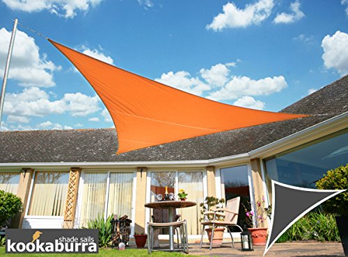 Kookaburra Voile d'Ombrage Imperméable 6,0m × 4,2m Triangle Rectangle Orange