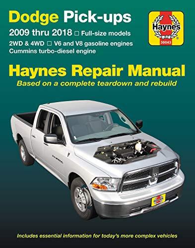 967a343e2bde6 Dodge Pick-Ups 2009 Thru 2018 Haynes Repair Manual  Full-Size Models