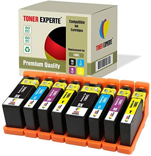 8 XL TONER EXPERTE® 100XL 100 XL Druckerpatronen kompatibel für Lexmark S300 S305 S402 S405 S505 S602 S605 S608 S815 S816 Pro 202 205 208 209 705 805 901 905 (2 Schwarz, 2 Cyan, 2 Magenta, 2 Gelb) -