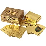 JEWEL FUEL 24 KARAT GOLD PLAYING CARDS With Exclusive wooden box
