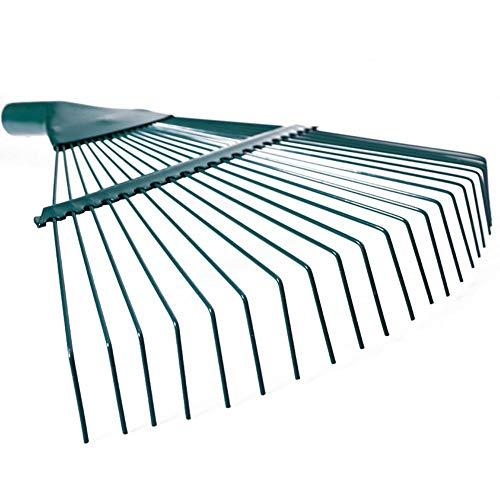 22 Zahn Garten Blatt Rake Kopf, Edelstahl Hacke Garten Gras Werkzeug, Mehrzahn Metall Rake Für Laub Hay Grass (grün) -