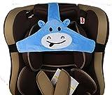 MINGZE Seggiolino auto per bambino, supporto per la testa del seggiolino auto, posizionatore per il sonno sicuro e accogliente, cintura di fissaggio regolabile per cintura di sicurezza (Blu)