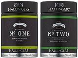 Hallingers Kaffee Mix grün Duo - gemahlen Espresso Set/Mix 2 x Premiumdose, 1er Pack (1 x 260 g)