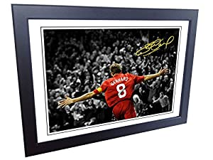 12x8 A4 Signed Steven Gerrard Celebration Autographed Photo Frame Photograph Picture Gift by kicks