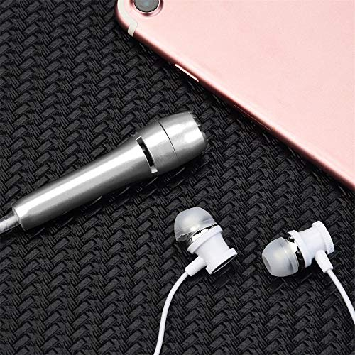 OSYARD Kopfhörer/Ohrhörer/Headphones/Earphones/Earbuds,Mini Karaoke Kopfhörer mit Kondensatormikrofon,Noise Cancelling Stereo Headset mit 3,5 mm Klinke für iPhone, Samsung, Huawei, HTC