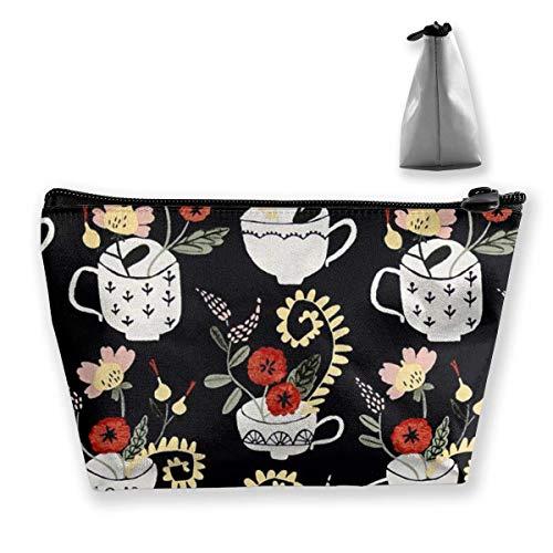 Blumen-Pflanzungen-Kosmetiktasche Große Kulturbeutel-Reisetasche mit Reißverschluss -